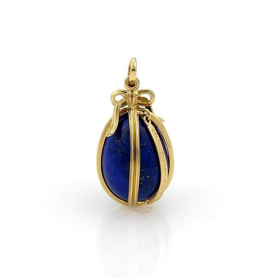 Tiffany & Co. Schlumberger Studios 18k Yellow Gold Lapis Egg Pendant Image 0