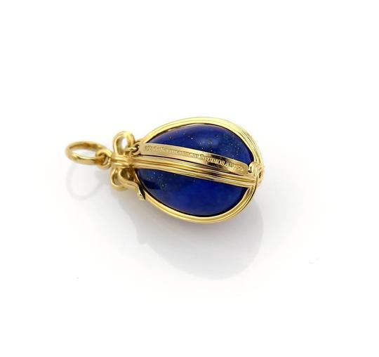 Tiffany & Co. Schlumberger Studios 18k Yellow Gold Lapis Egg Pendant Image 1