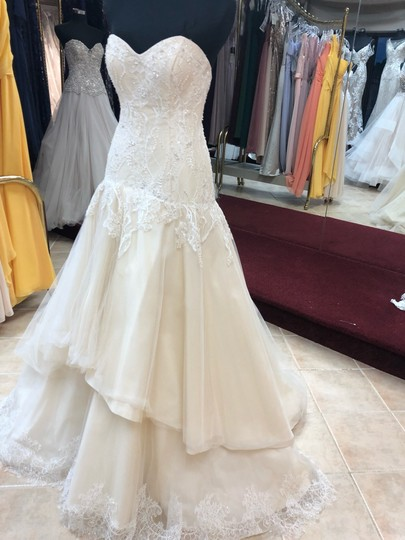 Preload https://img-static.tradesy.com/item/25722539/casablanca-couture-ivory-lacechampagne-lining-gown-sexy-wedding-dress-size-8-m-0-0-540-540.jpg