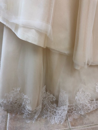 Casablanca Couture Ivory Lace/Champagne Lining Gown Sexy Wedding Dress Size 8 (M) Image 2