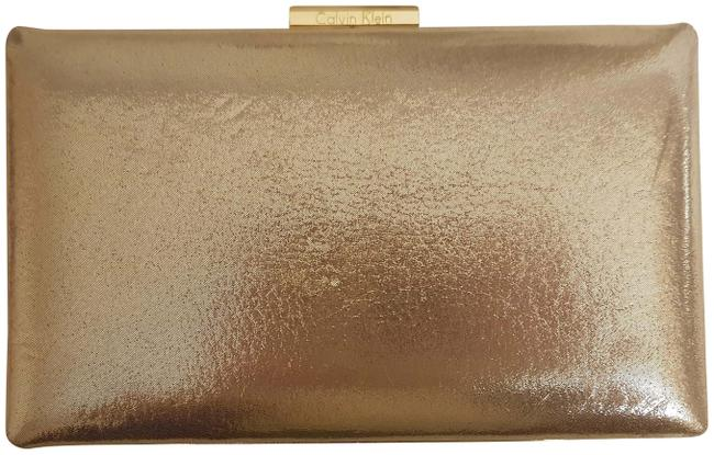 Item - Evening Gold Leather Clutch