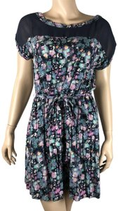 LC Lauren Conrad short dress Multi Floral Belted on Tradesy