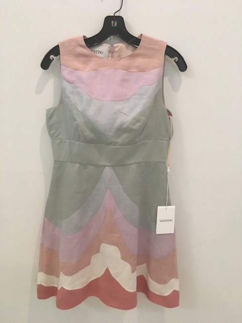 Valentino short dress Pastel multi Couture Linen on Tradesy Image 3