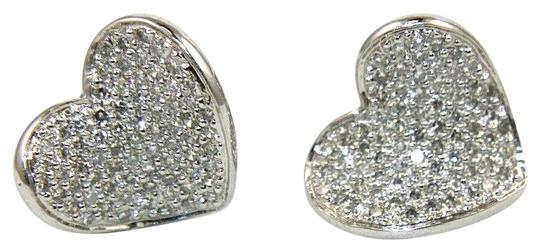 Preload https://img-static.tradesy.com/item/25722702/white-round-diamond-heart-pave-cluster-stud-14k-gold-90ct-earrings-0-1-540-540.jpg