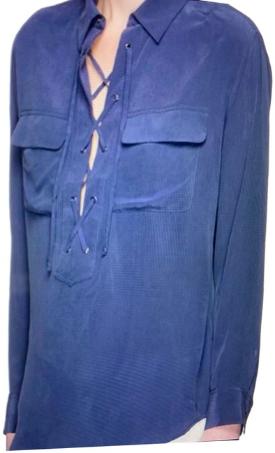 Equipment Blue Knox Blouse Size 8 (M) Equipment Blue Knox Blouse Size 8 (M) Image 1