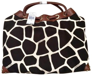 Michael Kors Tote in Ivory/Black/Brown