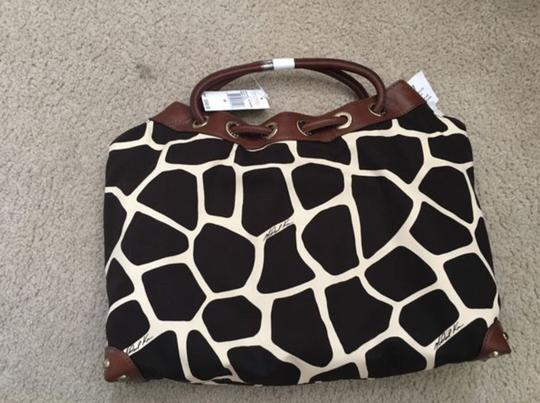 Michael Kors Tote in Ivory/Black/Brown Image 2