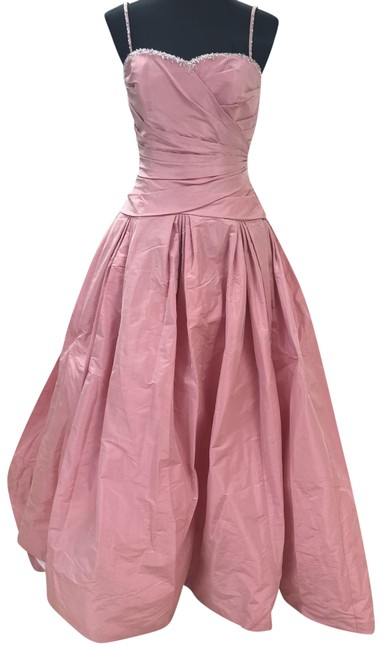 Item - Rose Full Skirt Wedding Gown with Train Long Formal Dress Size 12 (L)