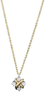 Tiffany & Co. Tiffany & Co. Yellow Gold Diamond Lynn Pendant Necklace - item med img