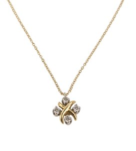 Tiffany & Co. Tiffany & Co. Yellow Gold Diamond Lynn Pendant Necklace