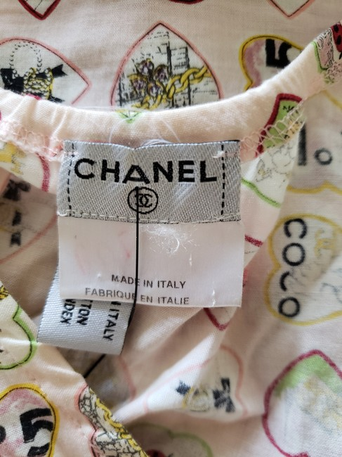 Chanel Coco Interlocking Cc Monogram Logo Embroidered Top Multicolor Image 10