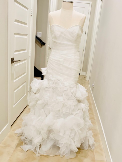 Bliss by Monique Lhuillier Ivory Strapless Mermaid Gown Formal Wedding Dress Size 6 (S) Bliss by Monique Lhuillier Ivory Strapless Mermaid Gown Formal Wedding Dress Size 6 (S) Image 1