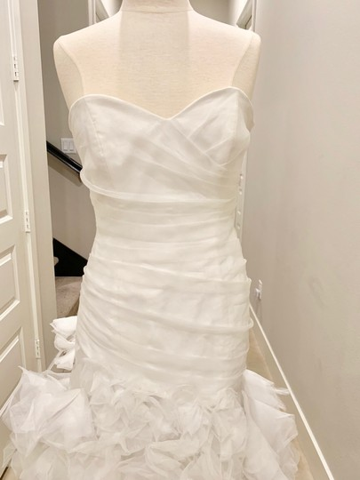 Bliss by Monique Lhuillier Ivory Strapless Mermaid Gown Formal Wedding Dress Size 6 (S) Image 1