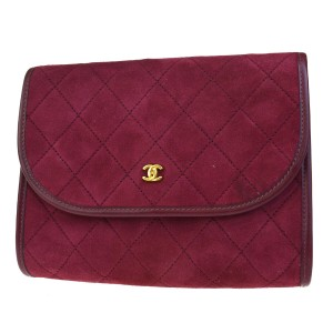 Chanel Made In France Bordeaux Clutch