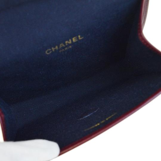 Chanel Made In France Bordeaux Clutch Image 5