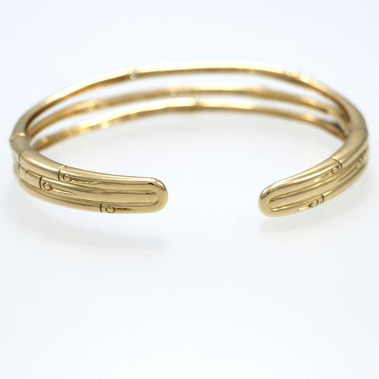 John Hardy John Hardy Bamboo Collection 18k Yellow Gold 1.50ct Diamonds Flex Cuff Image 2