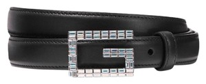 Gucci Moon crystal leather belt size 80