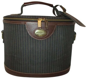 Pierre Cardin Vintage Cosmetic Oneam003 Striped brown, green & black Travel Bag