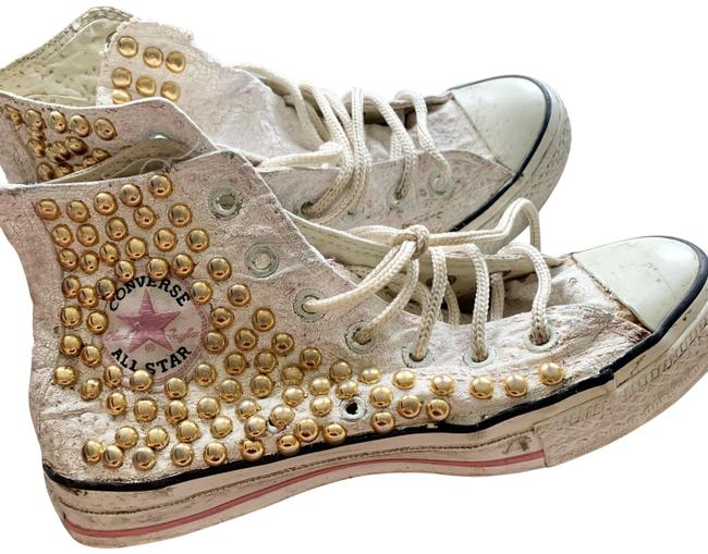 Converse White One Of A Kind Studded Sneakers Size US 6.5 Regular (M, B) Converse White One Of A Kind Studded Sneakers Size US 6.5 Regular (M, B) Image 1