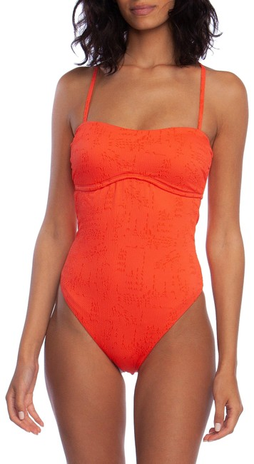 Lucky Brand Hot Coral Doheny Beach Swimsuit One-piece Bathing Suit Size 12 (L) Lucky Brand Hot Coral Doheny Beach Swimsuit One-piece Bathing Suit Size 12 (L) Image 1