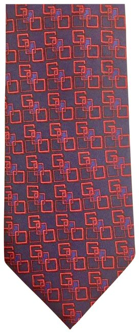 Gucci Red and Navy Blue Logo Used Once In Fashion Show Scarf/Wrap Gucci Red and Navy Blue Logo Used Once In Fashion Show Scarf/Wrap Image 1