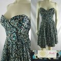 Tracy Reese Blue Strapless Polka Dotted Cotton Silk Mini Short Casual Dress Size 8 (M) Tracy Reese Blue Strapless Polka Dotted Cotton Silk Mini Short Casual Dress Size 8 (M) Image 2