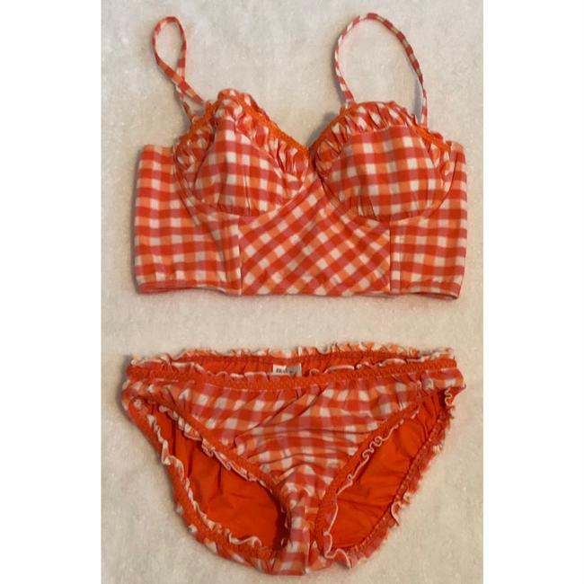 SeaFolly gingham longline bustier Image 2