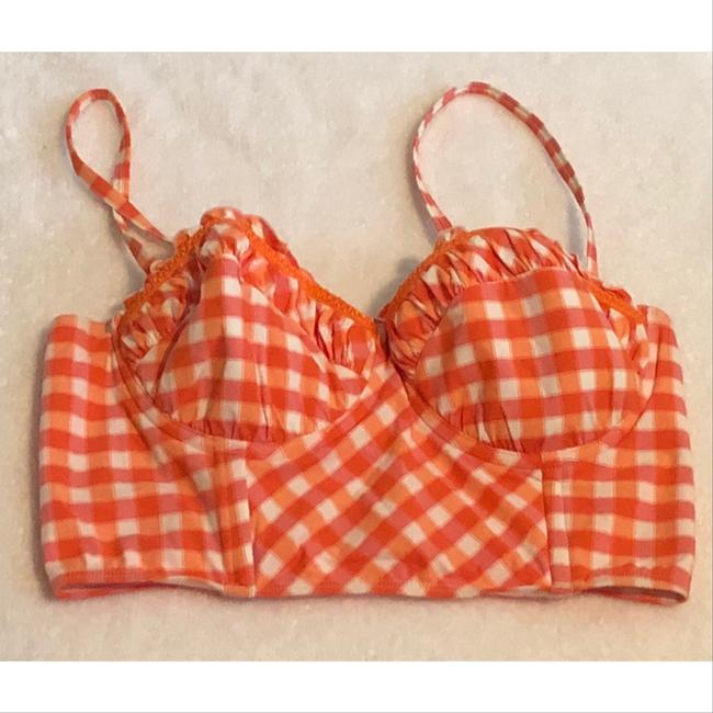 SeaFolly gingham longline bustier Image 4