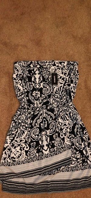 Express short dress Black & White on Tradesy Image 3