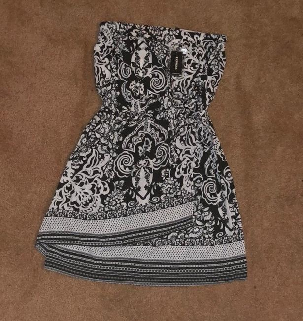 Express short dress Black & White on Tradesy Image 5