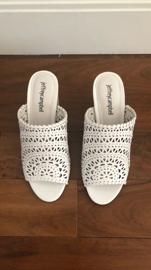 Jeffrey Campbell White Sandals Image 4