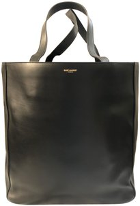 Saint Laurent Ysl Leather Laptop Tote in Black