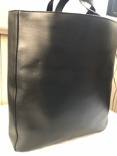 Saint Laurent Ysl Leather Laptop Tote in Black Image 3