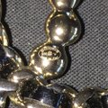 Chanel Brooch Pin Golden Black Pearl Chain Woven CC A96727 Image 6
