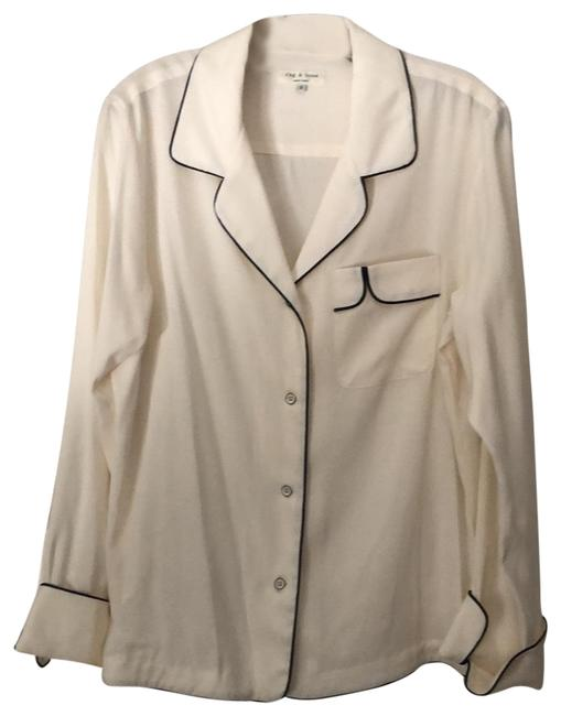 Item - Beige with Blk Trim And Blouse Size 6 (S)