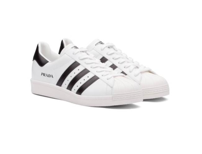 Prada White Black Superstar Leather Men Sneakers Size EU 36 (Approx. US 6) Regular (M, B) Prada White Black Superstar Leather Men Sneakers Size EU 36 (Approx. US 6) Regular (M, B) Image 1