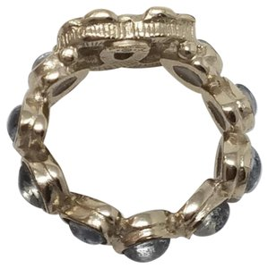 Chanel Chanel multicolored gold toned embellished CC ring