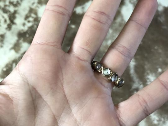 Chanel Chanel multicolored gold toned embellished CC ring Image 5