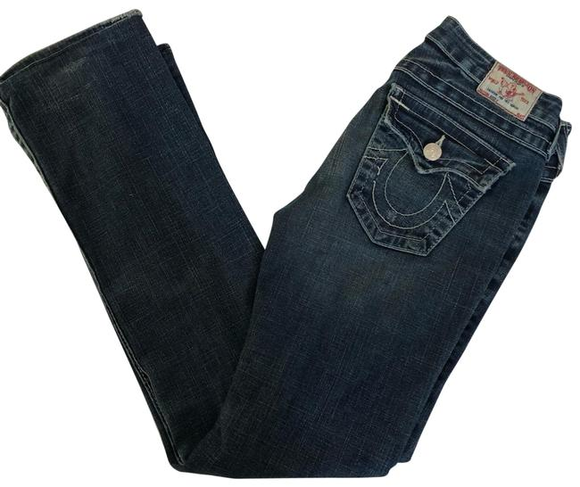 Item - Blue Distressed Becky Boot Cut Jeans Size 4 (S, 27)