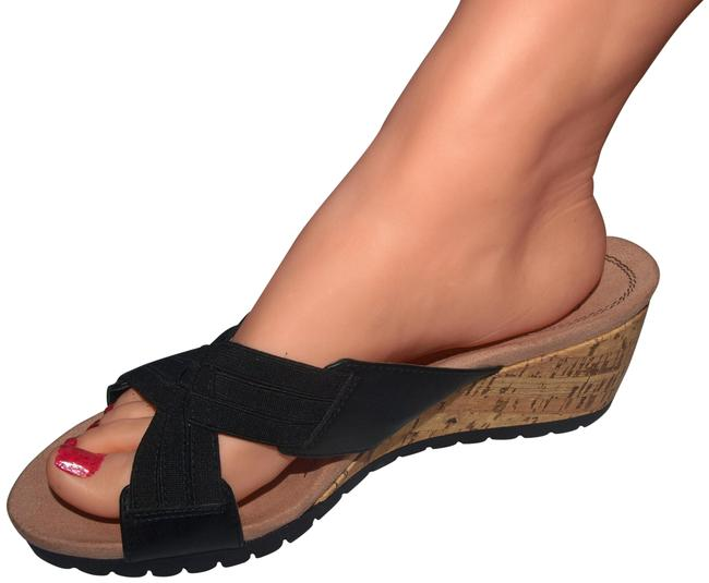 Item - Black Normal Wedge Sandals Size US 8.5 Wide (C, D)