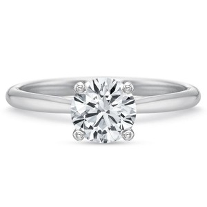 Diamond Certified 0.80ct Round Solitaire Grown 14k Engagement Ring