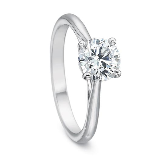 Diamond Certified 0.80ct Round Solitaire Grown 14k Engagement Ring Image 1