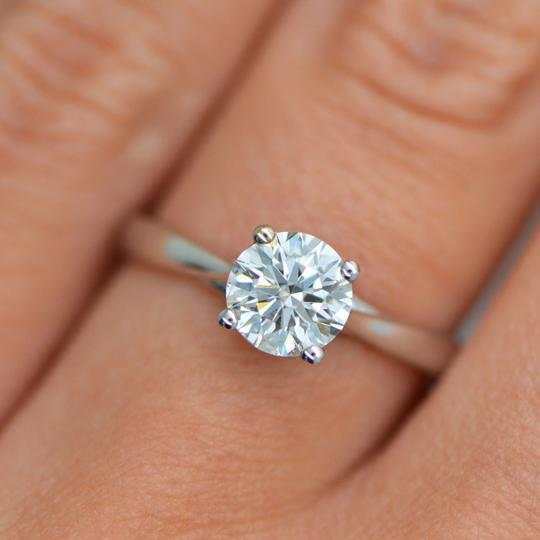 Diamond Certified 0.80ct Round Solitaire Grown 14k Engagement Ring Image 2