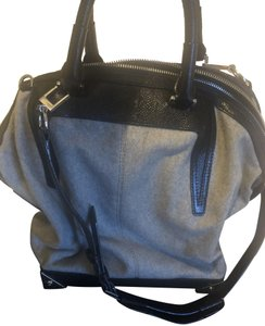 Alexander Wang Tote Leather Satchel in Black and Grey