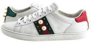 Gucci Ace Studded Leather White Athletic