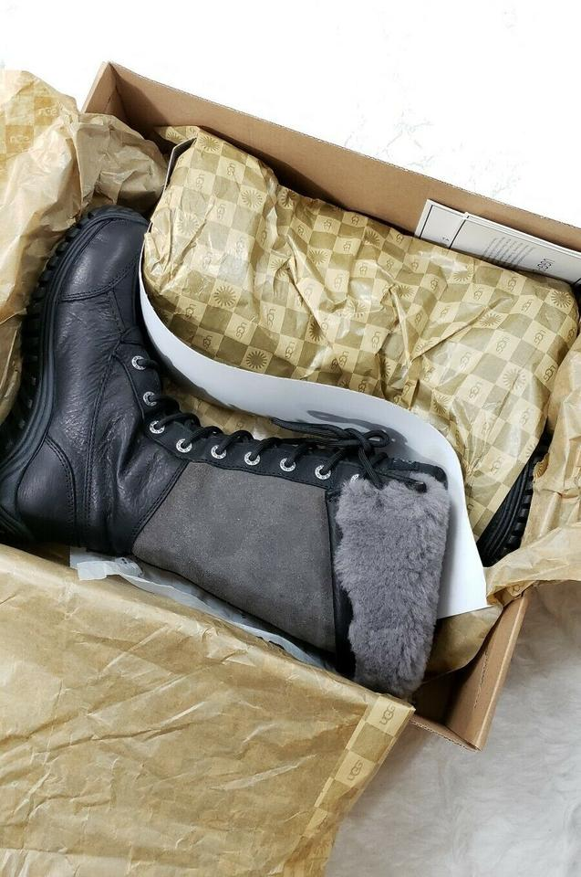 4dcf8f2bfd4 UGG Australia Black Adirondack Tall Leather Shearling Boots/Booties Size US  6 Regular (M, B) 35% off retail