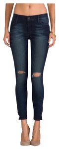 Black Orchid Denim Skinny Jeans-Distressed
