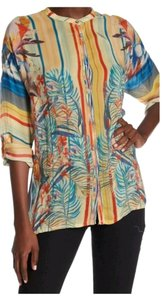 Johnny Was Silk Oversized Embroidered Rayon Tunic