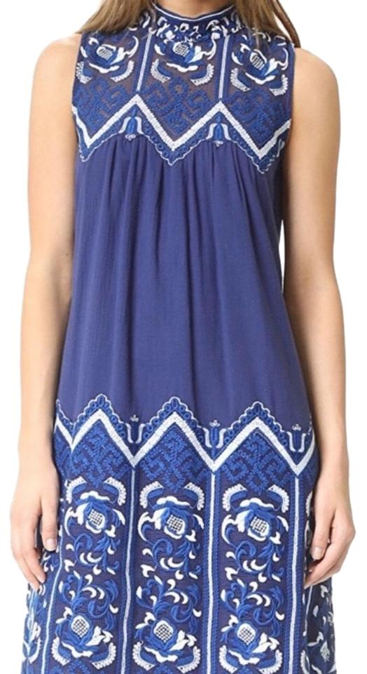 Sea Blue New York Lace Embroidered Short Casual Dress Size 0 Xs 66 Off Retail