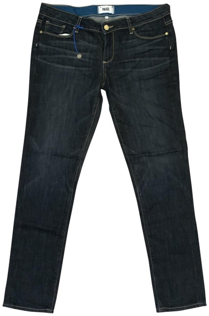 Item - Rebel Without A Cause Dark Rinse Jimmy Jimmy Skinny Boyfriend Cut Jeans Size 30 (6, M)